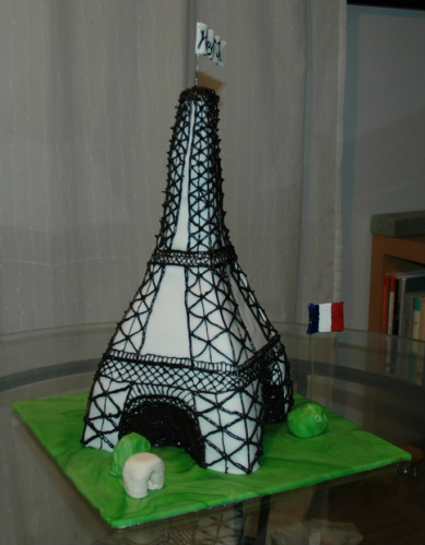 Eiffel Tower Cake Pictures on Eiffel Tower Cake     Cloud Nine Confections
