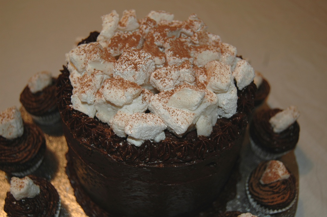 Hot Chocolate Layer Cake with Homemade Marshmallows - Cloud Nine ...